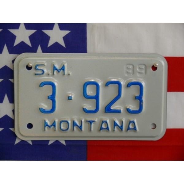 Americká Moto SPZ Montana 1989