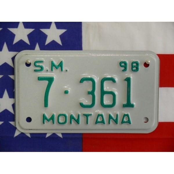 Americká Moto SPZ Montana 1998