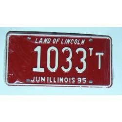 Americká SPZ Illinois sbírka 1033