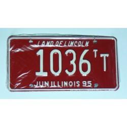 Americká SPZ Illinois sbírka 1036