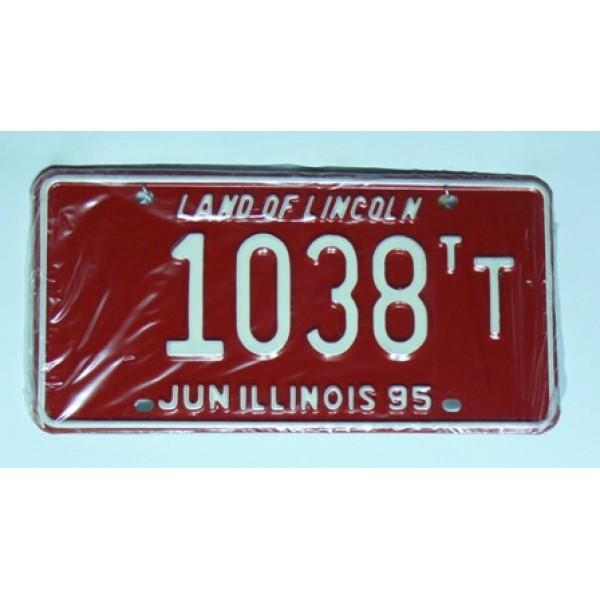 Americká SPZ Illinois sbírka 1038