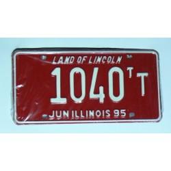 Americká SPZ Illinois sbírka 1040