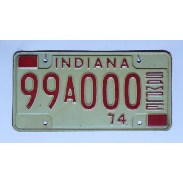 Americká SPZ Indiana 99A000