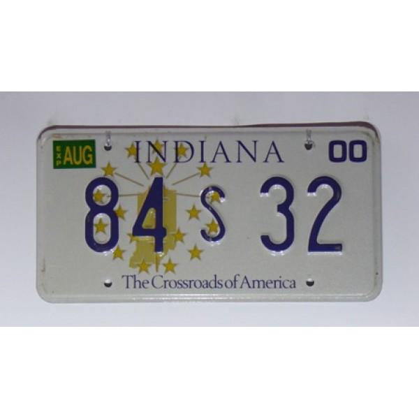 Americká SPZ Indiana 32 sb. 2000