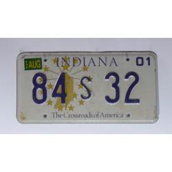 Americká SPZ Indiana 32 sb. 2001