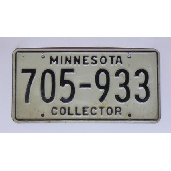 Americké SPZ Minnesota collector pár