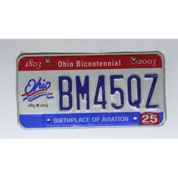 Americká SPZ Ohio výroční