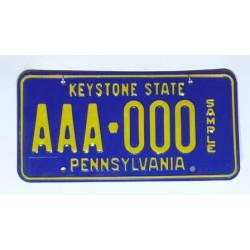 Americká SPZ Pennsylvania AAA