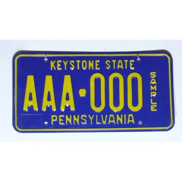 Americká SPZ Pennsylvania