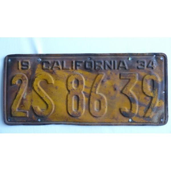 Americká spz California historická 1934