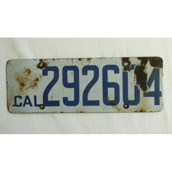 Americká spz California historická 1919