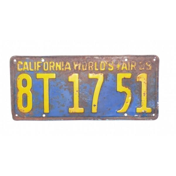 Americká spz California historická 1929