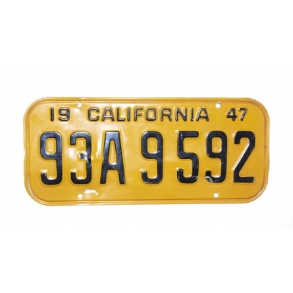 Americká spz California historická 1947