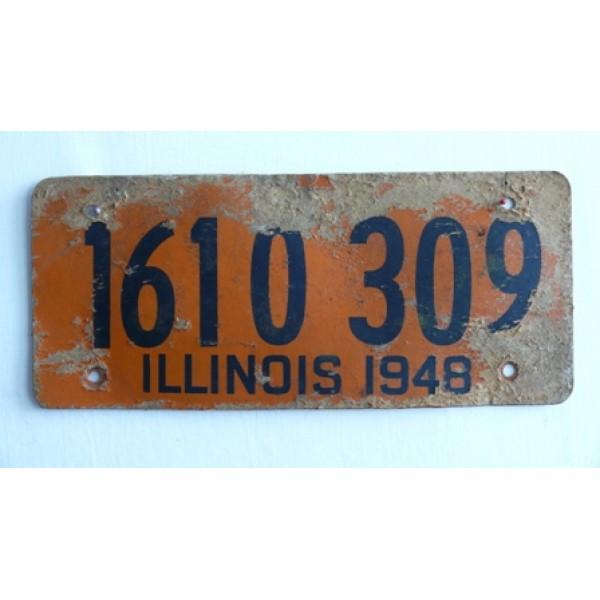 Americká historická spz Illinois ze sololitu 1948