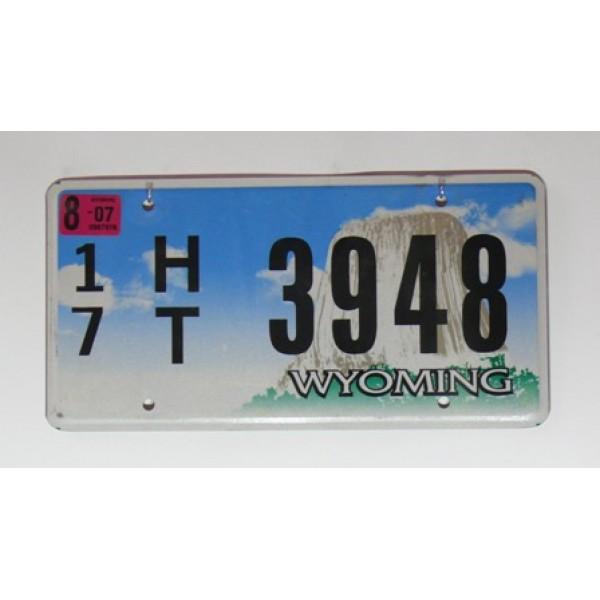 Americké SPZ Wyoming