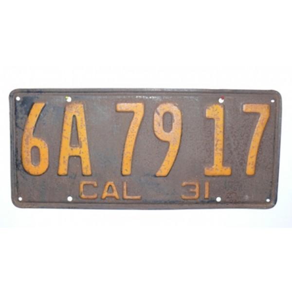 Americká spz California historická 1931