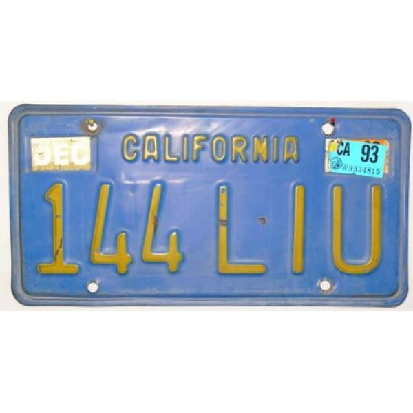 Americká spz California