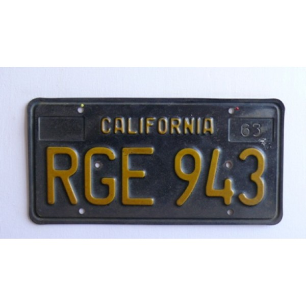 Americká spz California historická 1963