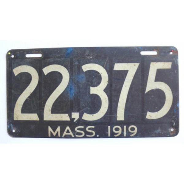 Americká spz Massachussetts historická 1919