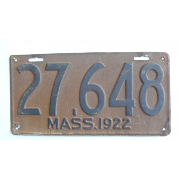 Americká spz Massachussetts historická 1922