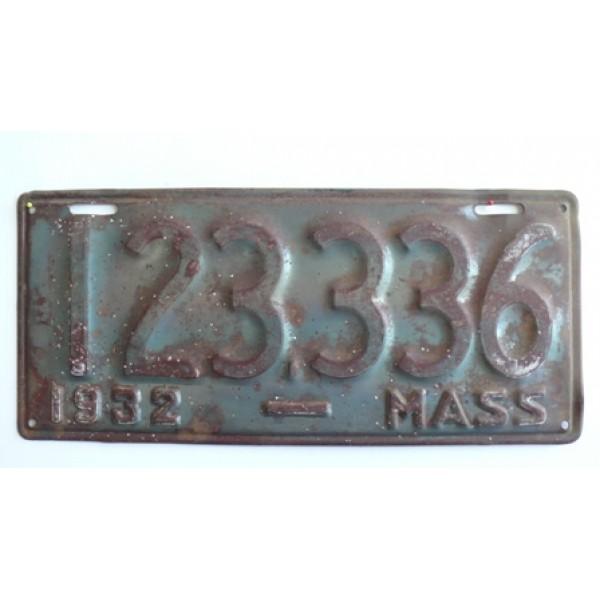 Americká spz Massachussetts historická 1932