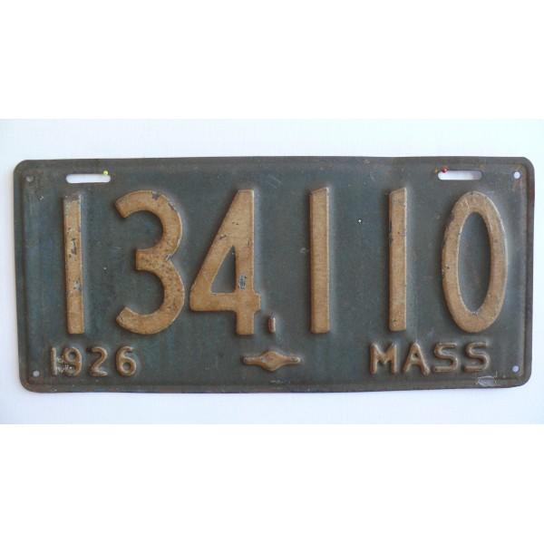 Americká spz Massachussetts historická 1926