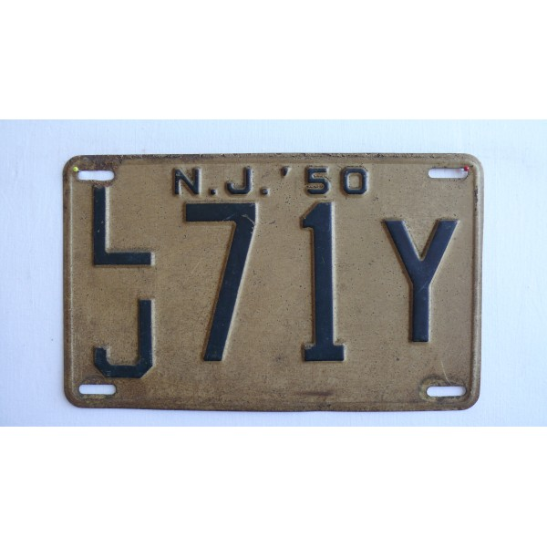 Americká spz New Jersey historická 1950