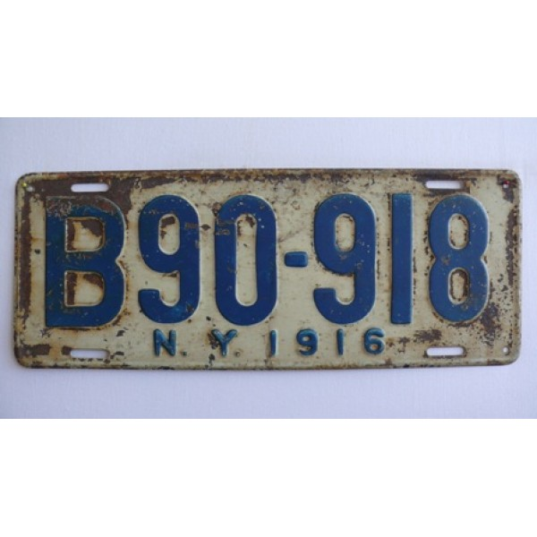 Americké spz New York historické 1916 pár