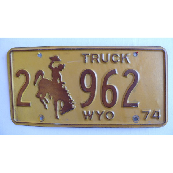 Americká spz Wyoming historická 1974