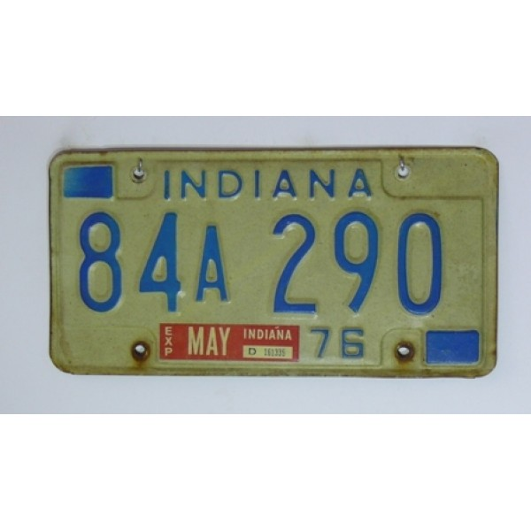 Americká spz Indiana 1976