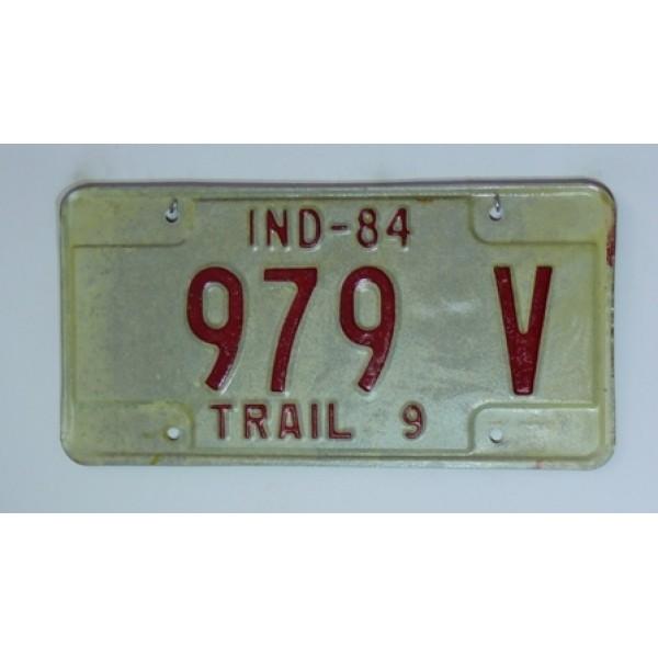 Americká spz Indiana 1984