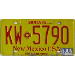 Americká SPZ  New Mexico