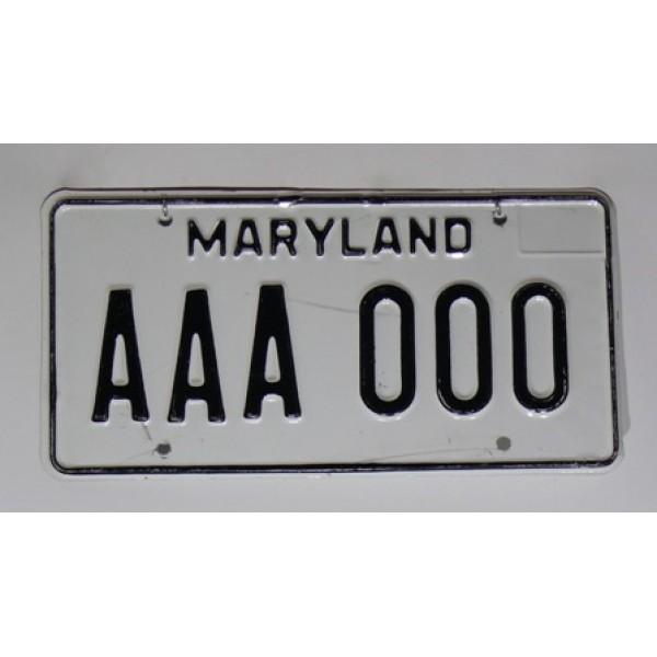 Americká SPZ Maryland