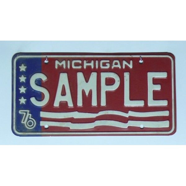 Americká SPZ Michigan sample