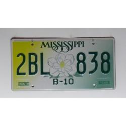 Americká SPZ Mississippi