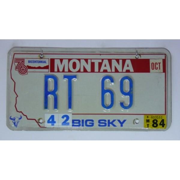 Americká spz Montana vanity