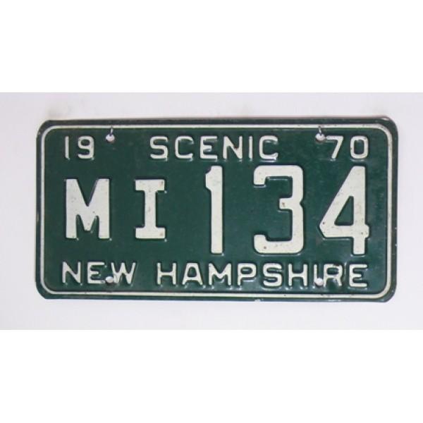 Americká spz New Hampshire historická 1970