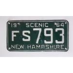 Americká spz New Hampshire historická 1964 pár