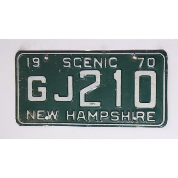 Americká spz New Hampshire historická 1970 pár