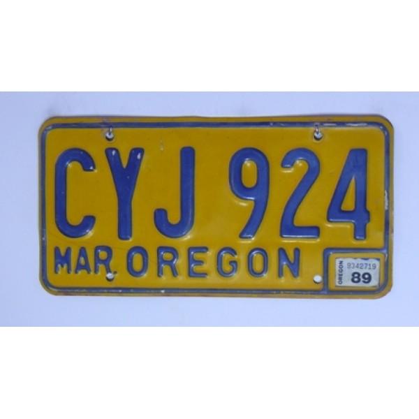 Americká SPZ Oregon