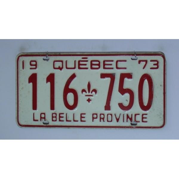 Kanadská spz Quebec r.1973