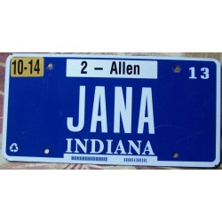 Americká SPZ Indiana JANA