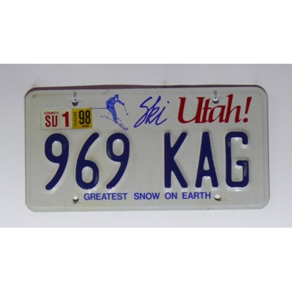 Americké SPZ Utah pár