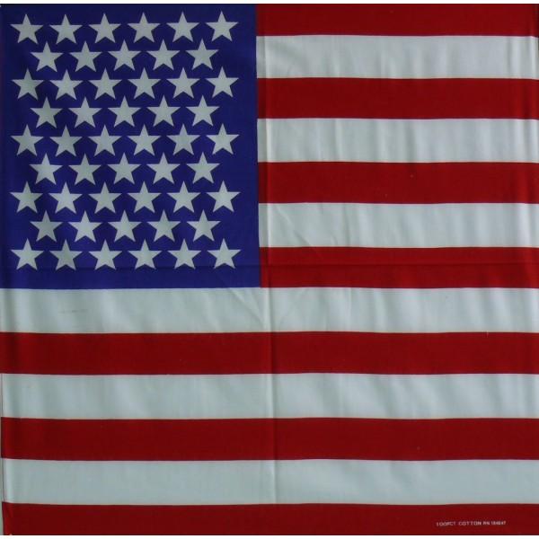 Americká vlajka 54x56 bavlna 100%